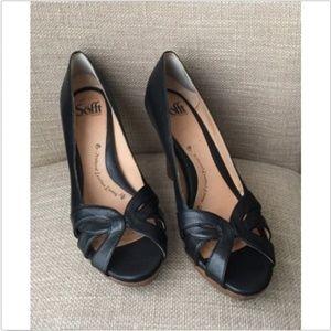 Söfft Black Leather Pumps Shoes Size 8.5 *